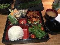 Vegetable Tempura and Chicken Teriyaki Bento Box