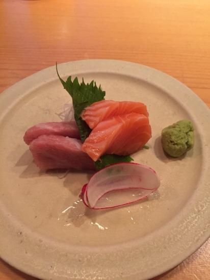 Fatty Tuna and Salmon Sashimi