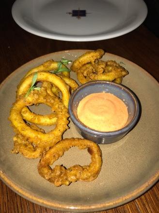 Spiced calamari fritters