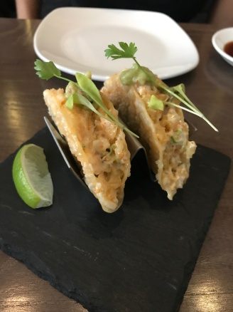 Spicy Prawn Tempura Tacos