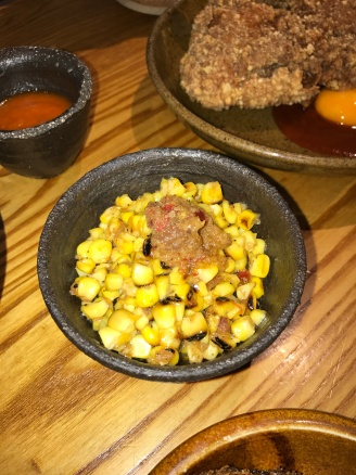 XO Sweetcorn with spiced beef butter